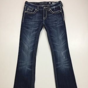 MISS ME Irene Boot Flap Back Pocket Jeans